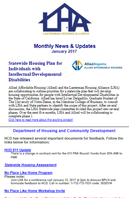 Statewide Housing Plan for Individuals with Intellectual / Developmental Disabilities, Department of Housing and Community Development, LHA Housing Thought Leaders Spring 2017 Conference, LHA Membership Options