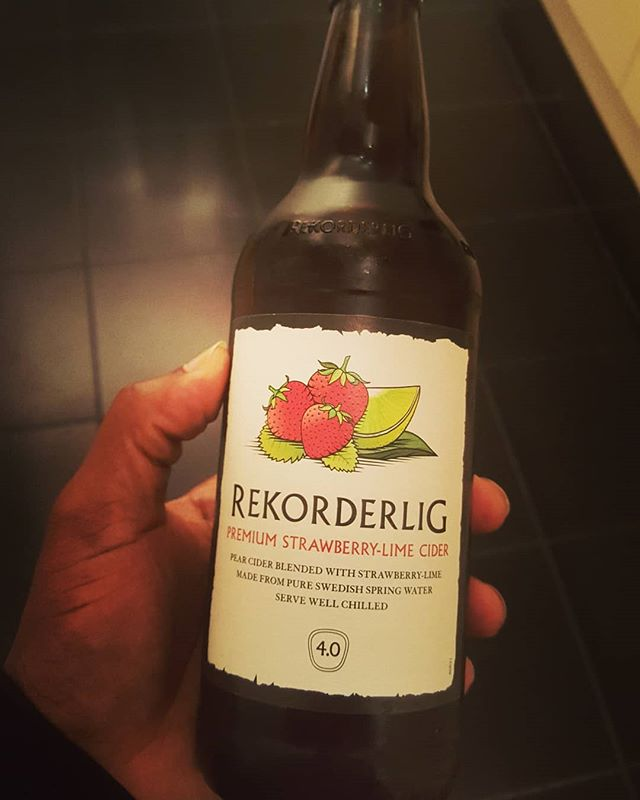 Something for the summer.... #Rekorderlig #Summer #oneburgerbastard #drinks