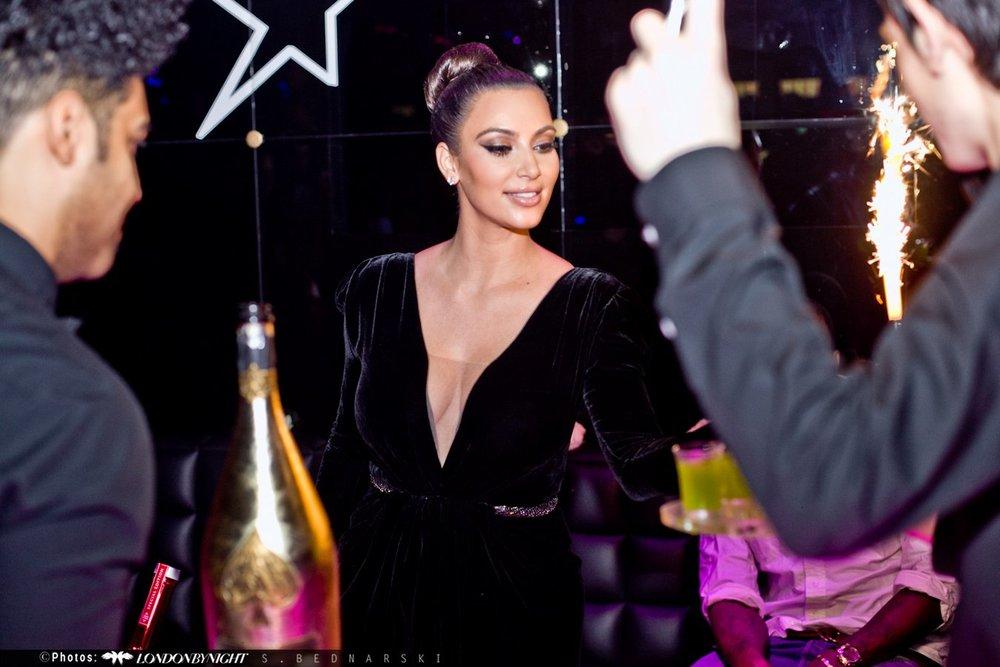 Kim Kardashian at Movida (London)