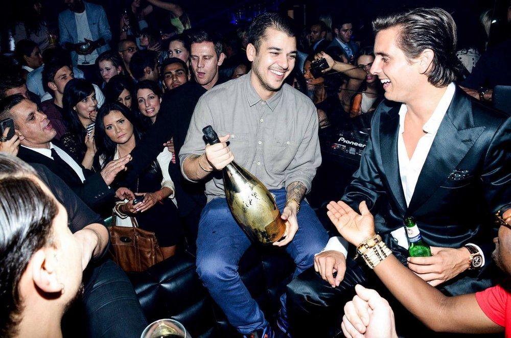 Rob Kardashian & Scott Disick - Movida (London)