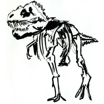 Mini Natural History T Rex Print