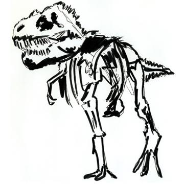 Mini Natural History T Rex Print
