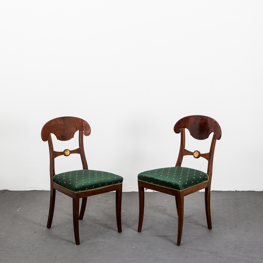 Pair Of Karl Johan / Empire Side Chairs Sweden
