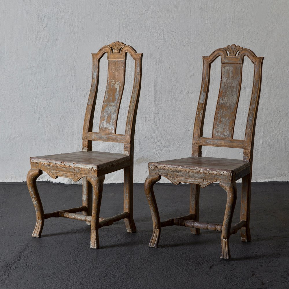 Chairs Swedish Baroque 18th Century Sweden