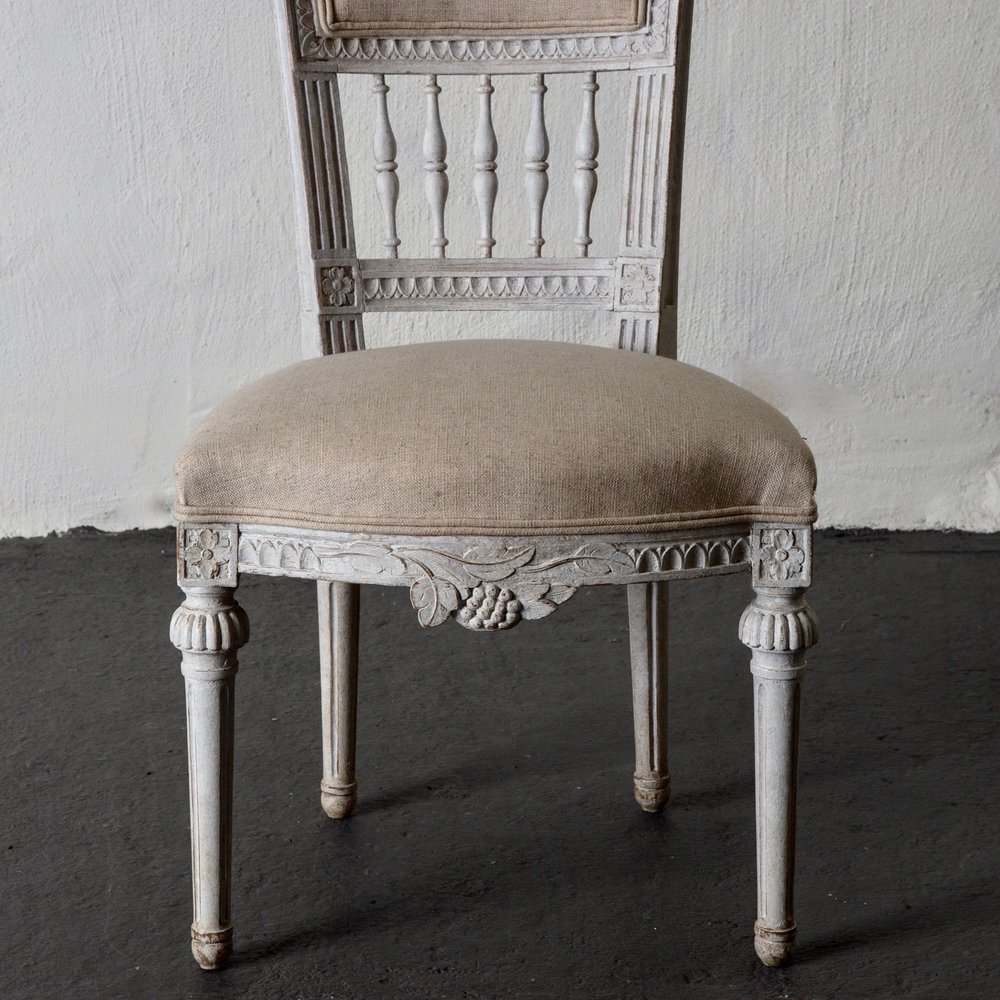 Dining Chairs Gustavian Style 19th Century Sweden