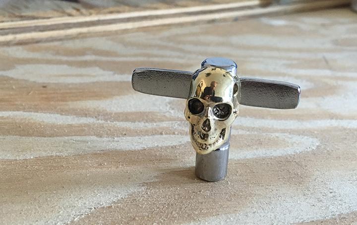 skull drum key
