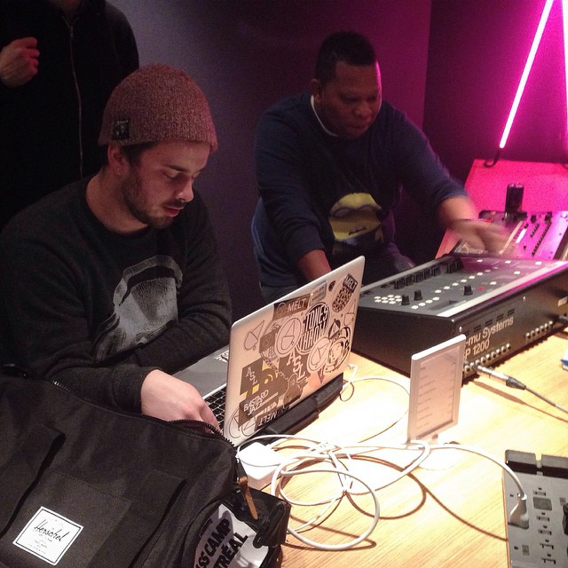 Nick Wisdom playing some of his beats with Mannie Fresh this past weekend.