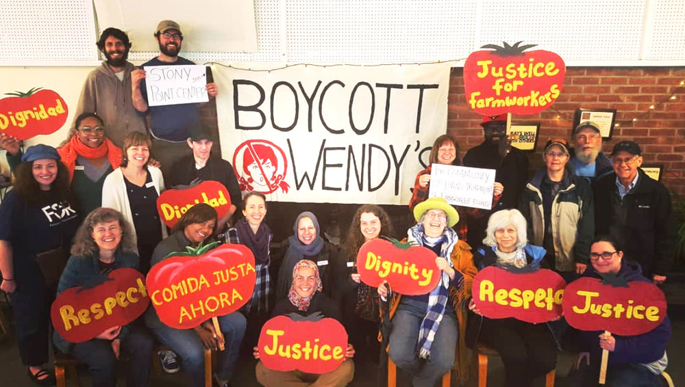 The Community of Living Traditions and Stony Point Center raise their voices to support farmworkers' human rights.