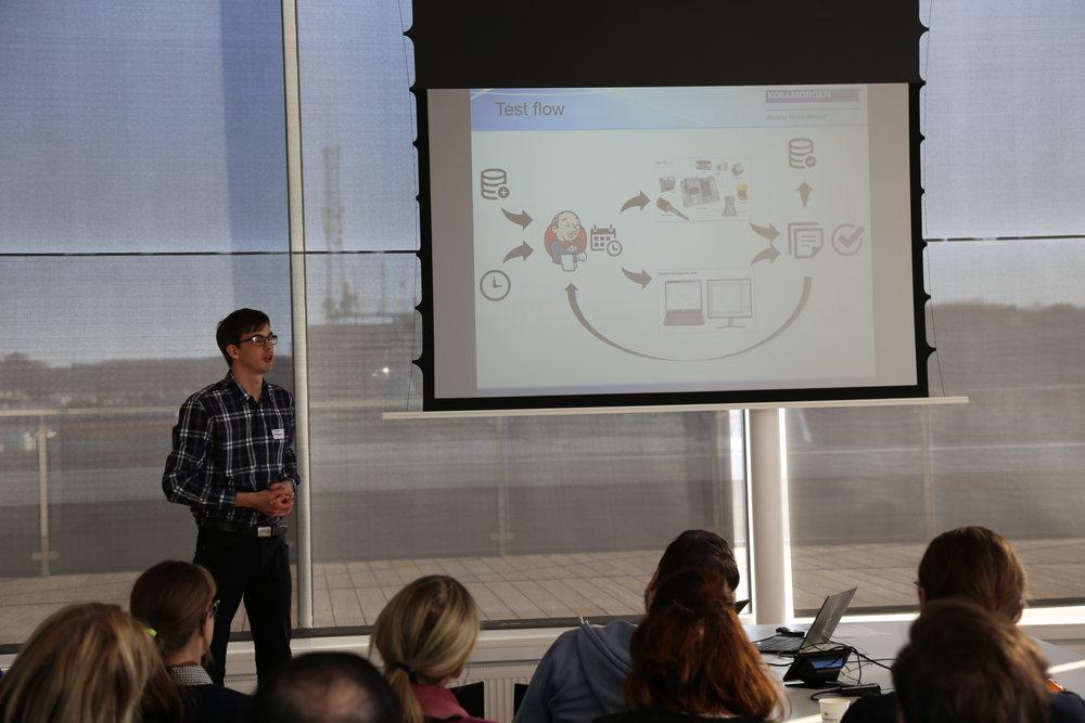 Simon Bokesand från Kollmorgen berättar om sina erfarenheter kring testautomatisering.