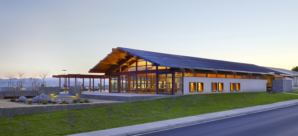 Woodcrest Library: The first LEED (Leadership in Energy and Environmental Design) certified building constructed by Riverside County.