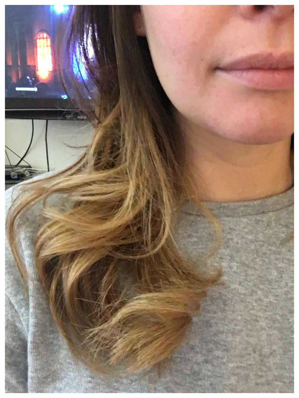 New balayage hair color