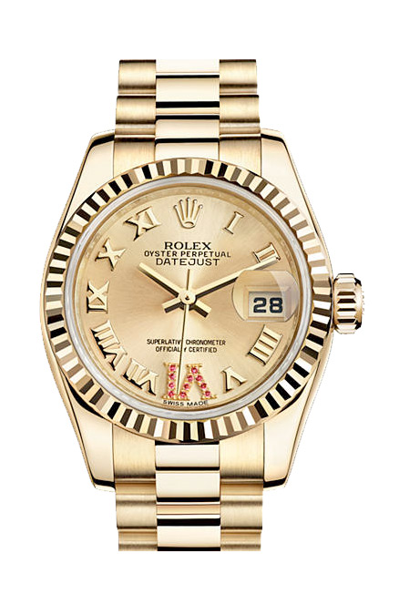 Rolex Lady-Datejust. Oyster, 26 mm, yellow gold