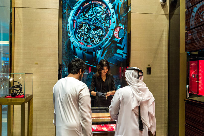Roger Dubuis opened this boutique in the Dubai Mall in November, one of two stores it opened in the region in 2015. Credit Christophe Viseux for The New York Times
