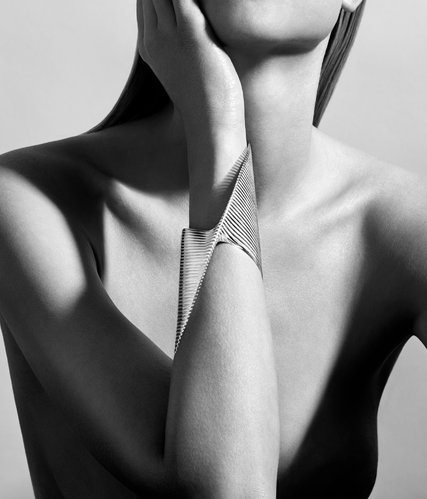The bangle, designed by Zaha Hadid for Georg Jensen. Credit Christian Hogstedt