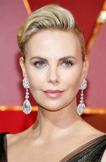 Charlize Theron in Chopard diamonds totaling more than 50 carats.CreditKevork Djansezian/Getty Images