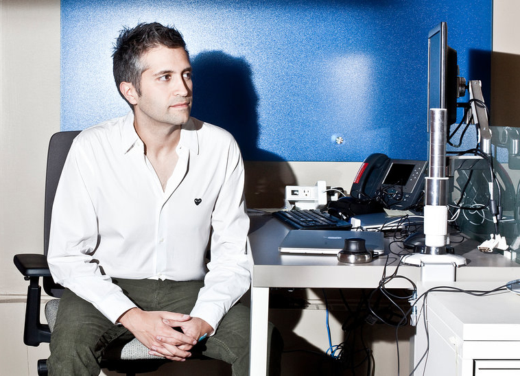 """Guive Balooch, global vice president of L'Oréal's Technology Incubator, at its New Jersey site. He says he looks for opportunities """"where beauty and technology meet.""""CreditBryan Anselm for The New York Times"""