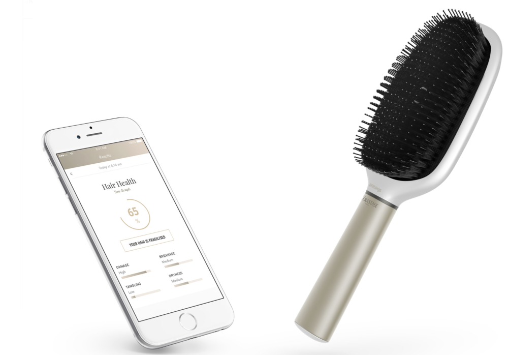 The Kérastase Hair Coach Powered by Withings is a smart brush with its own app. The product is scheduled to go on sale later this year.