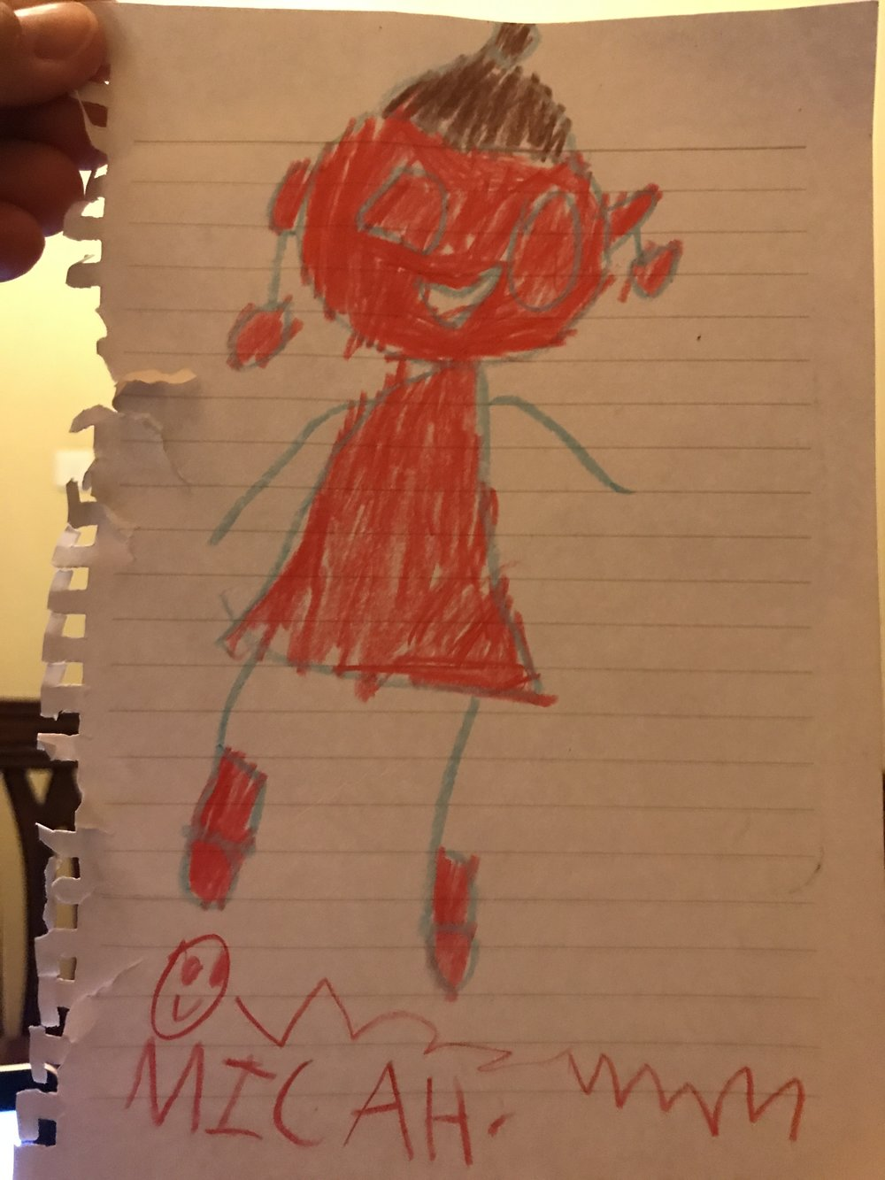 Micah's drawing of me