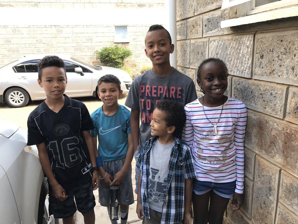 Ezra, Nehemiah, Taye, Micah, Lisa