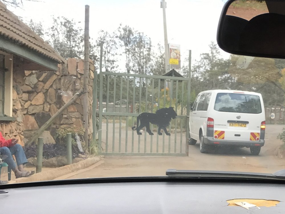 Gate of Sheldrick Wildlife Trust