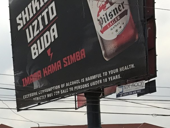 Kenya Breweries ad in Swahili