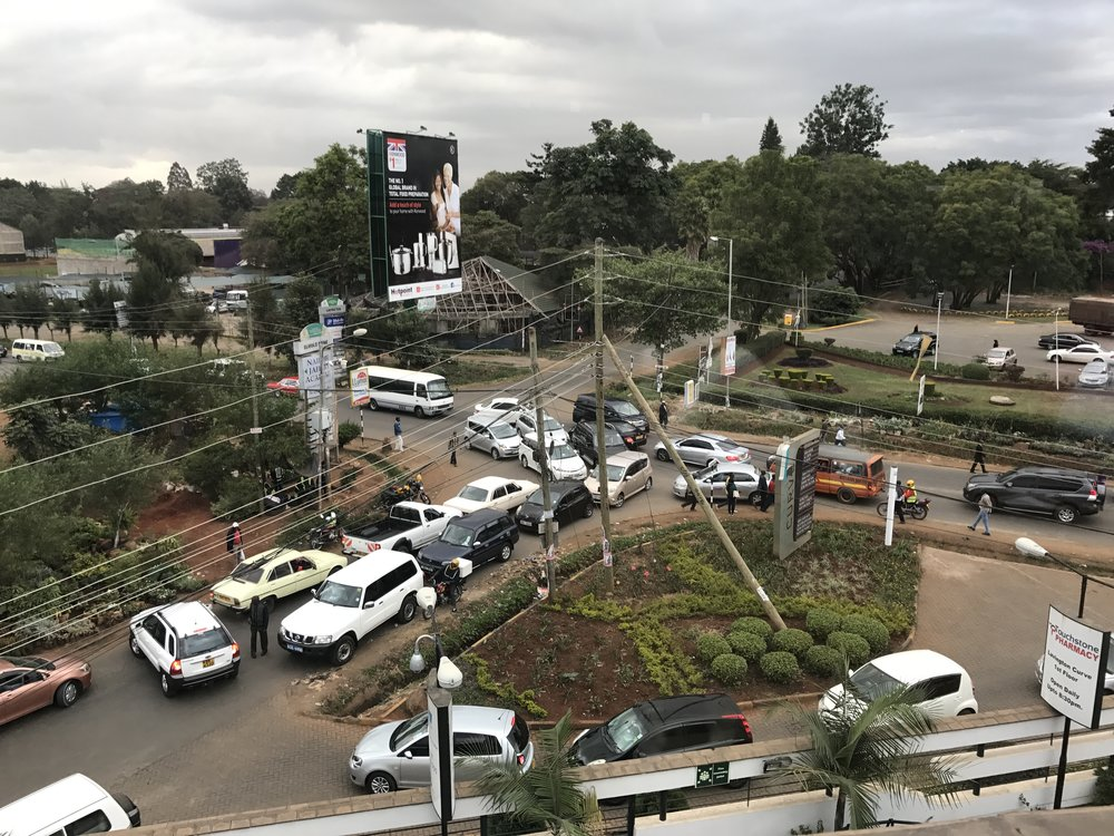 Typical Nairobi: no traffic lights, total chaos