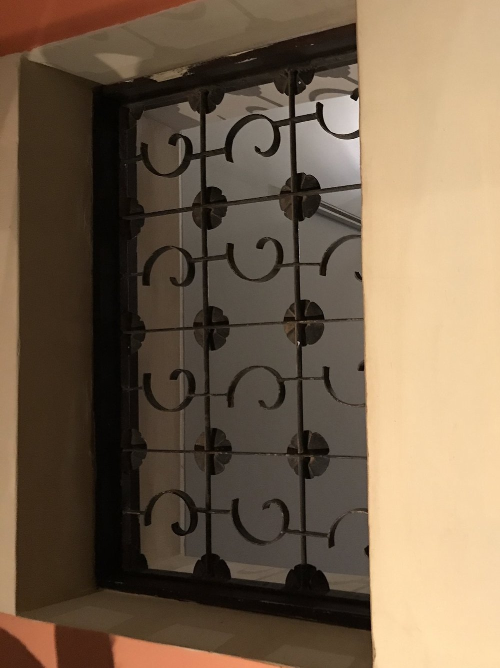 4) Decorative grate in animal gallery