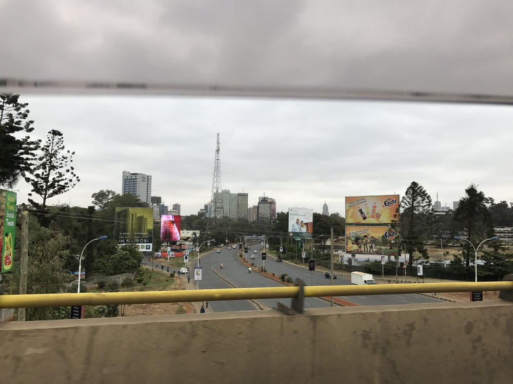 View of the A104 toward Nairobi