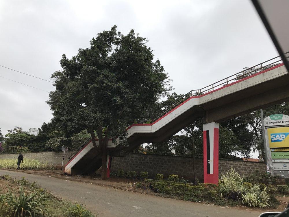 Stairway overpass