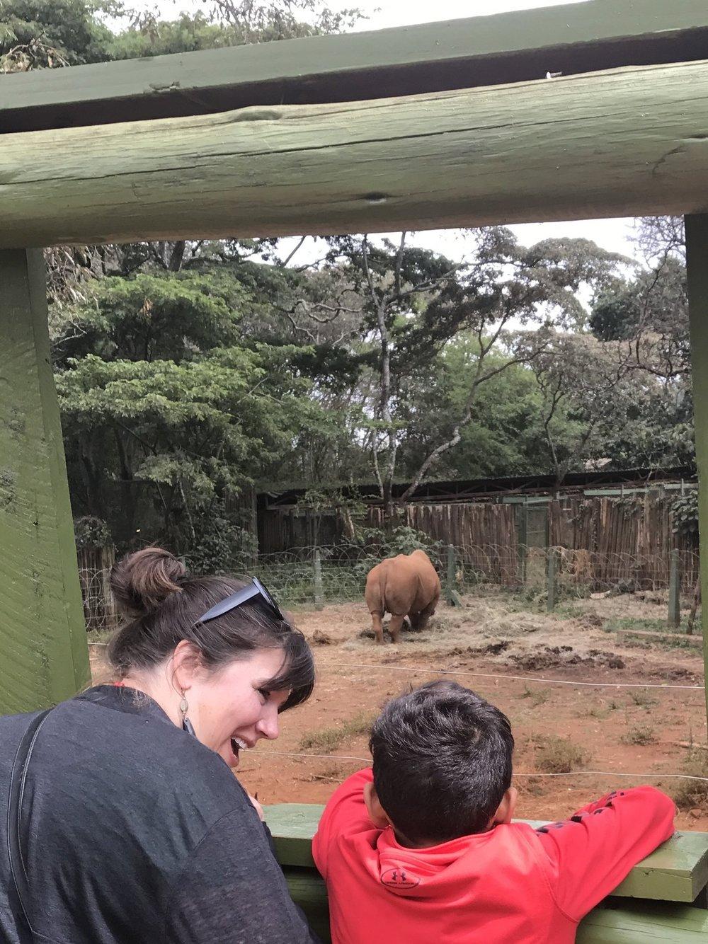 Nehemiah's pet rhino