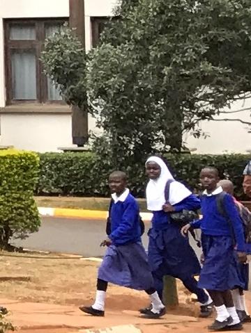 Schoolchildren on a field trip