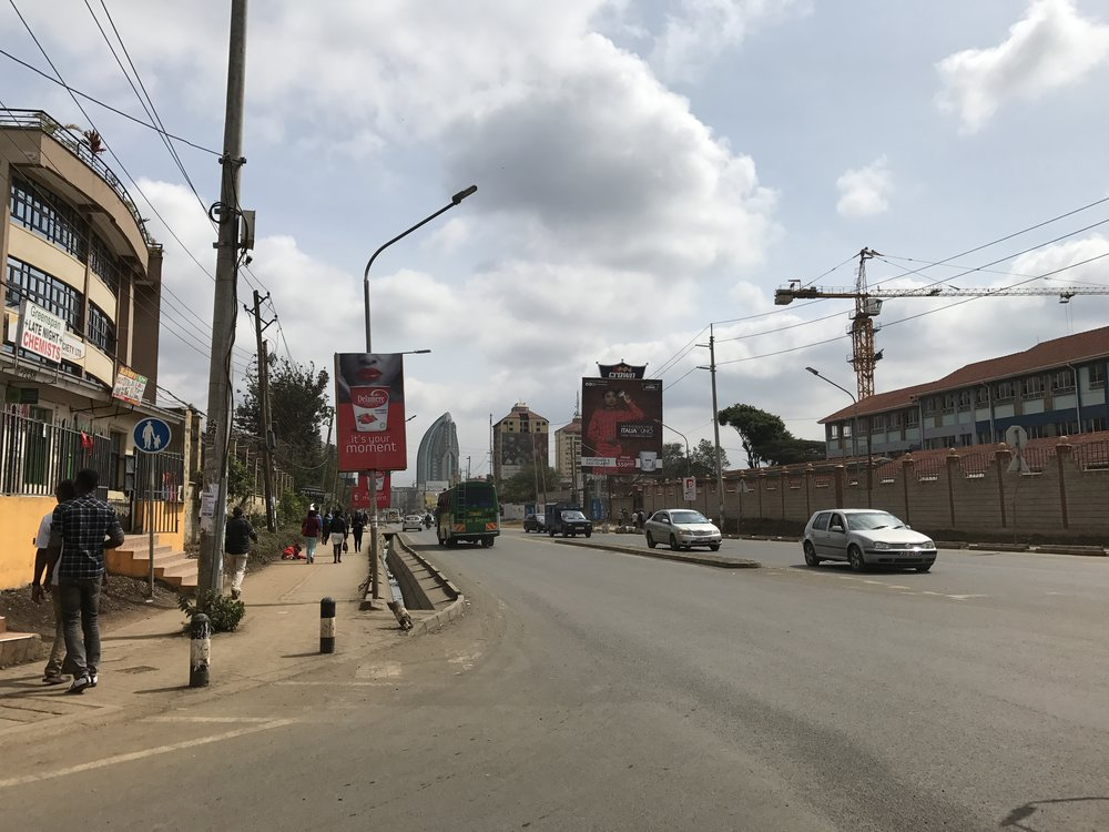 View up Ring Rd Kilimani