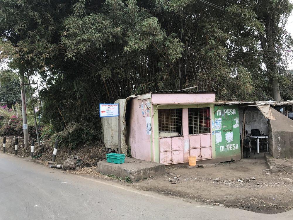 Pink kiosk