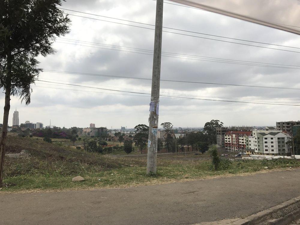 View toward Nairobi in the northeast