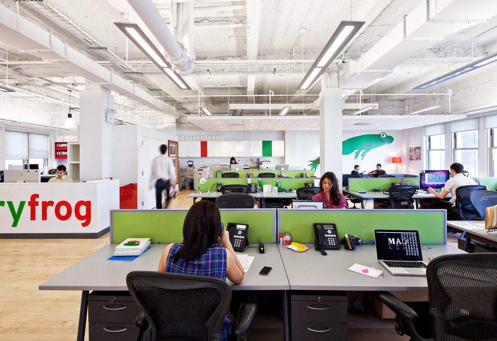 The Open Spaces Lead To Collaborations Between Account Services And Designers