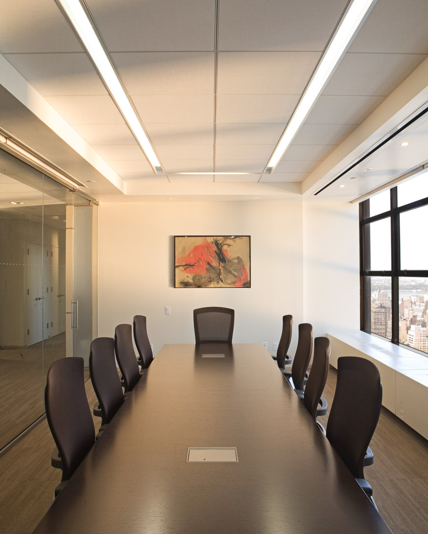 lehrer architects office design. Reception And Conference Areas Are Open To The New York Skyline Through A Layered Series Of Glass Panels, While Custom Designed Desk Greets Guests With Lehrer Architects Office Design