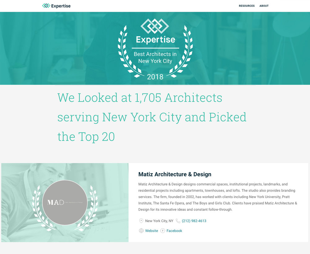 Expertise's Best Architects in NYC 2018.jpg