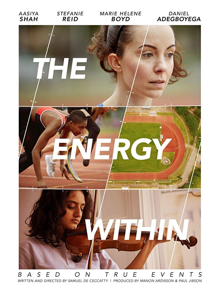 The Energy Within makes it's British Film Institute Premier - Stef Reid made her acting debut starring in a short film which director Samuel de Ceccatty describes as