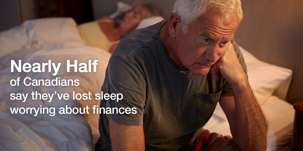 Half of Canadians lose sleep worrying about finances