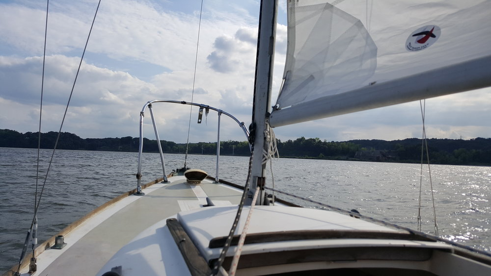 Setting sail on the Hudson River
