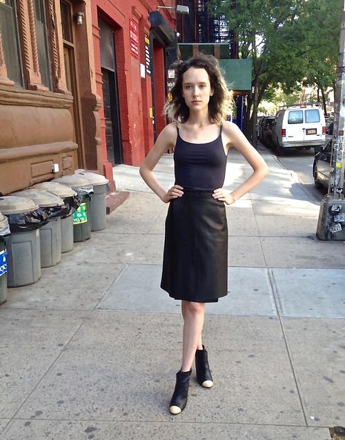 Leather Wrap Skirt — ANNA