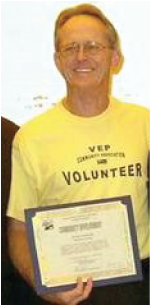 Thank you to VEP Neighborhood Association for this great picture of Dave: a tree-mendous volunteer!