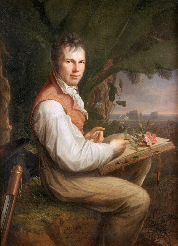 A portrait of a young Humboldt (Public Domain)