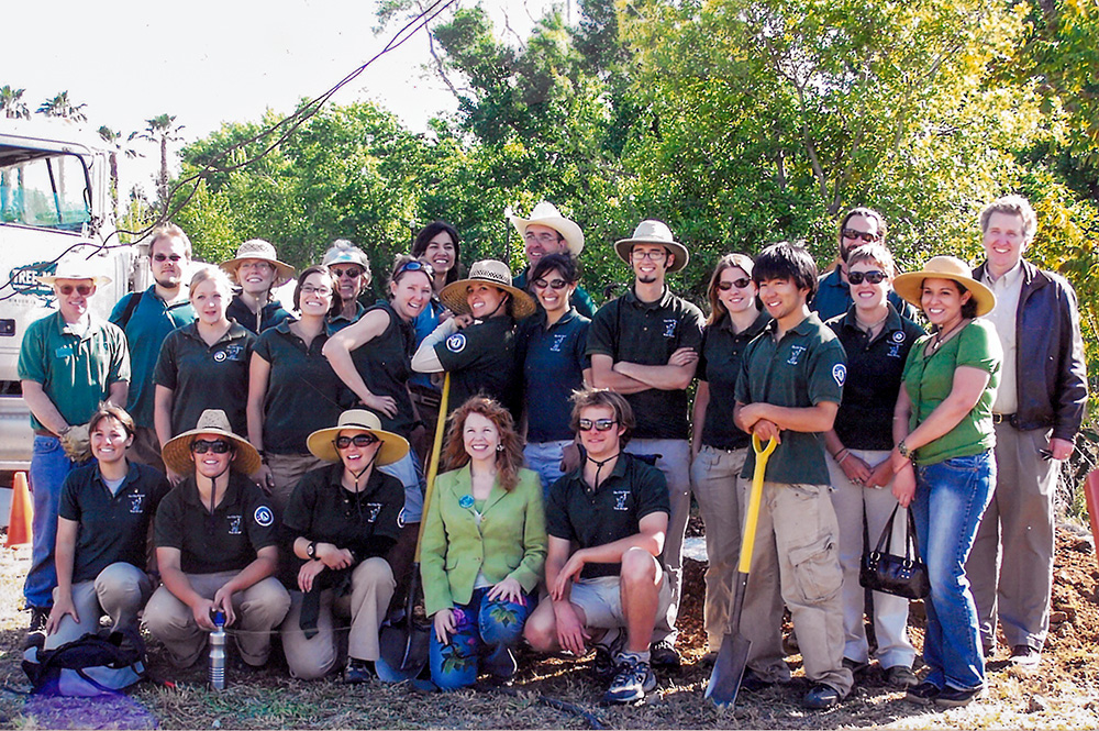 The OCF Team at the Kelly Park Tree Bank in 2008.