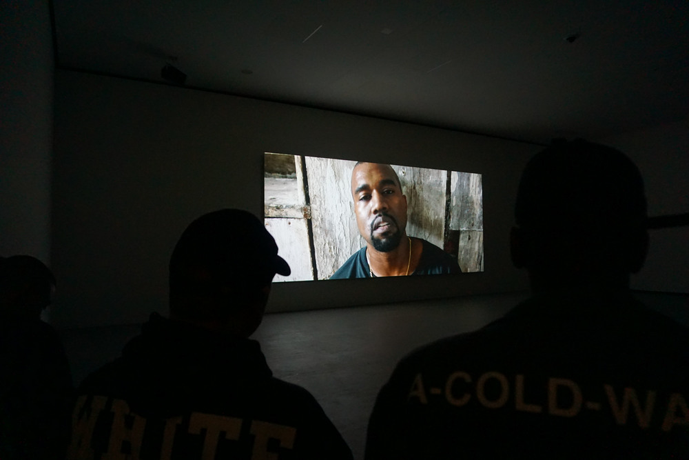 Kanye West at Foundation Louis Vuitton