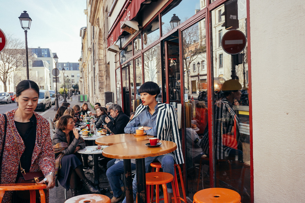 Bloggers in Le Marais, Paris