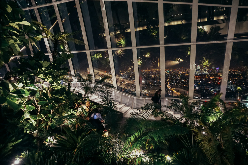 Sky Gardens at 20 Fenchurch Street at night