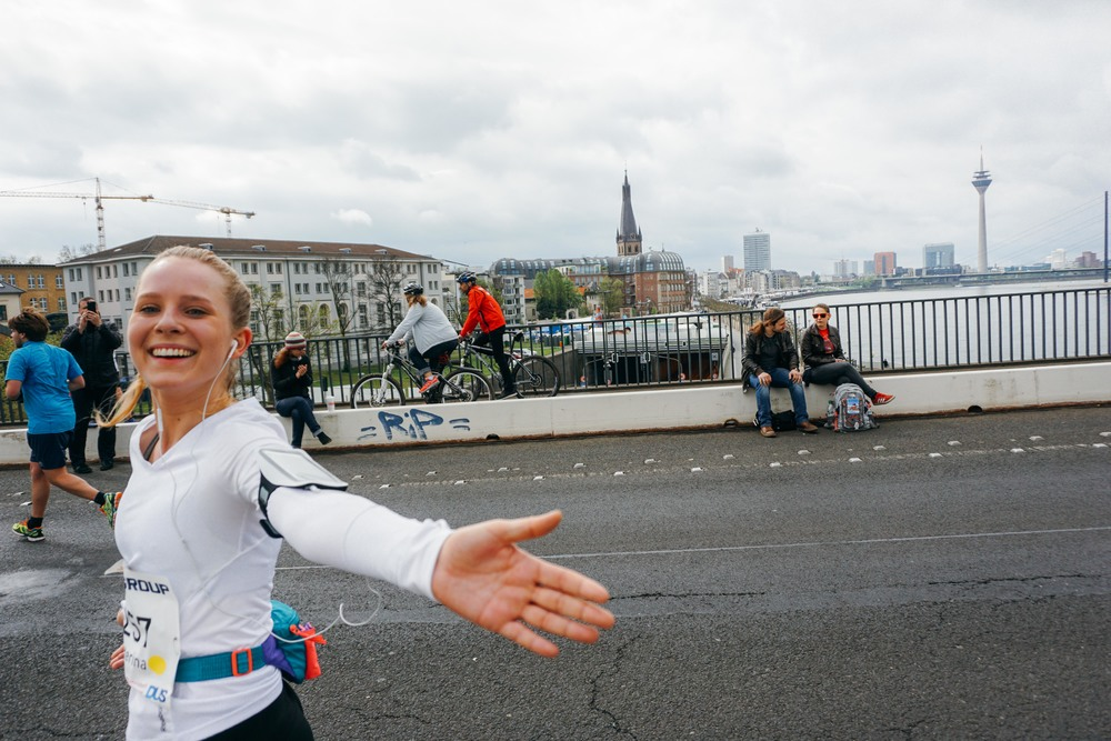 Marathon Düsseldorf. 25 kilometer point.