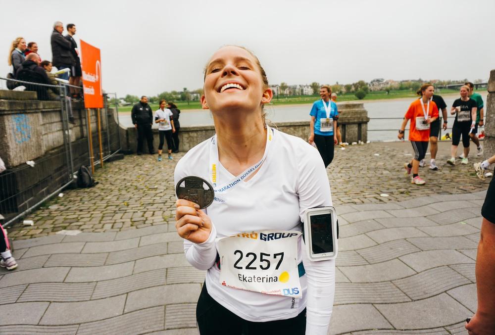 Marathon Medal Girl
