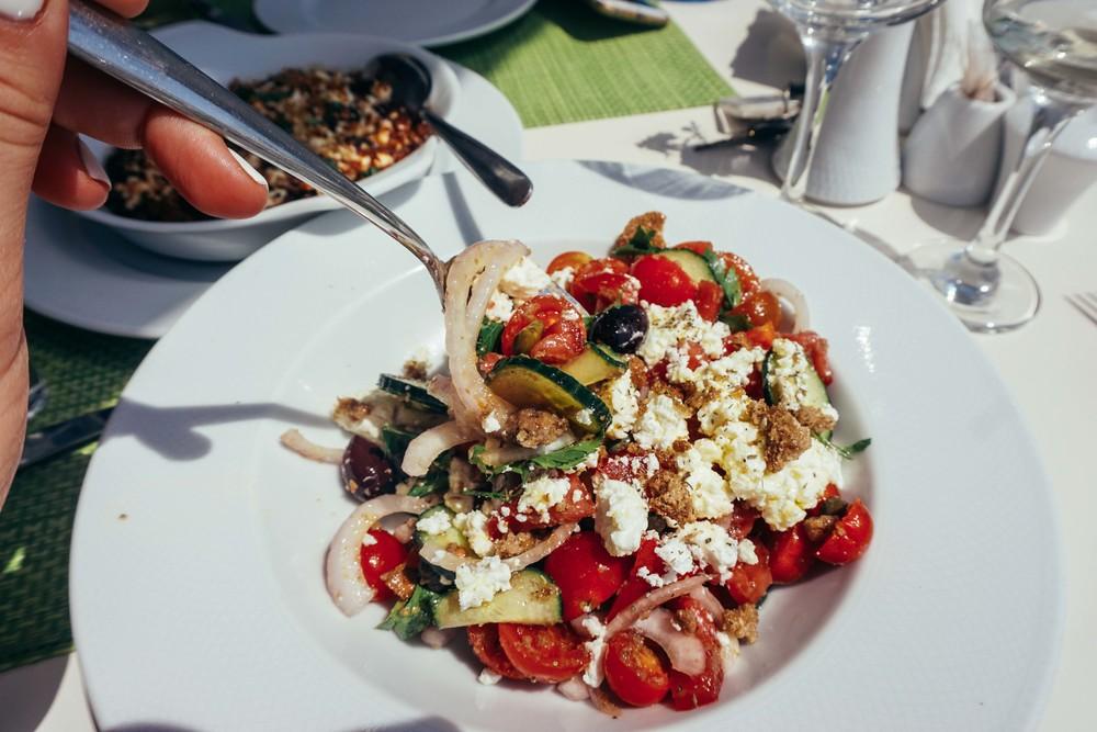 Greece, Santorini, Imerovigli. Avocado Restaurant